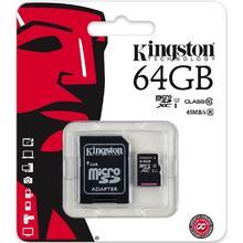 Kingston MICRO SDXC 64GB Class 10 UHS-I + Adaptér
