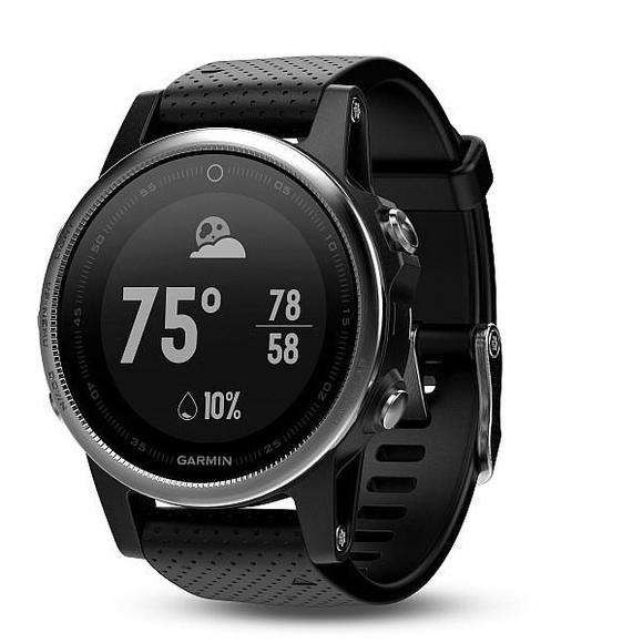 Garmin Fenix 5S silver, black band  - 1