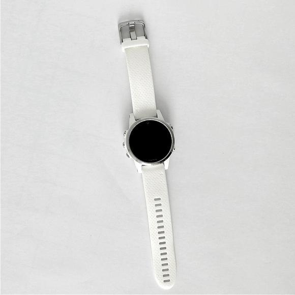 Garmin Fenix 5S Silver Optic, White band  - 1